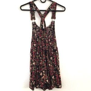 Kimchi Blue Floral Print Overall Dress Size XS